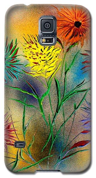 Six Flowers - E Galaxy S5 Case