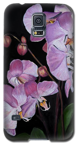 Galaxy S5 Case featuring the painting Six Orchids by Sandra Nardone
