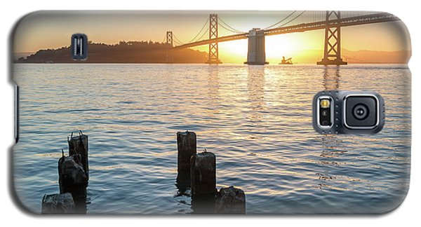 Six Pillars Sticking Out The Water With Bay Bridge In The Backgr Galaxy S5 Case
