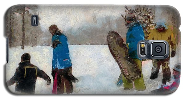 Six Sledders In The Snow Galaxy S5 Case