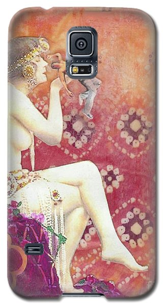 Galaxy S5 Case featuring the mixed media Size Matters Da by Desiree Paquette