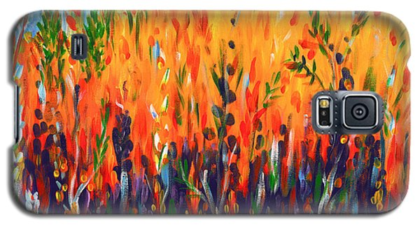 Galaxy S5 Case featuring the painting Sizzlescape by Holly Carmichael