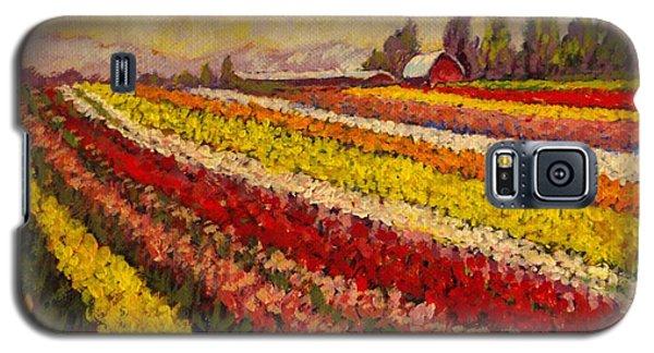 Skagit Valley Tulip Field Galaxy S5 Case by Charles Munn