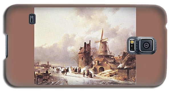 Skaters On A Frozen River Galaxy S5 Case by Reynold Jay