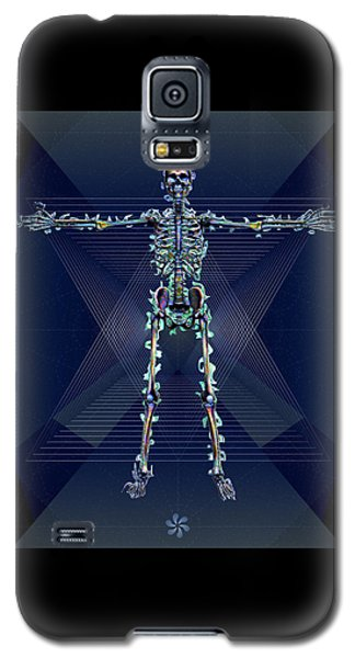Galaxy S5 Case featuring the digital art Skeletal System by Iowan Stone-Flowers