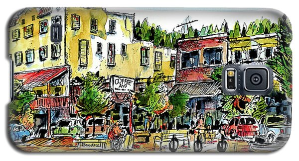 Galaxy S5 Case featuring the painting Sketch Crawl In Truckee by Terry Banderas