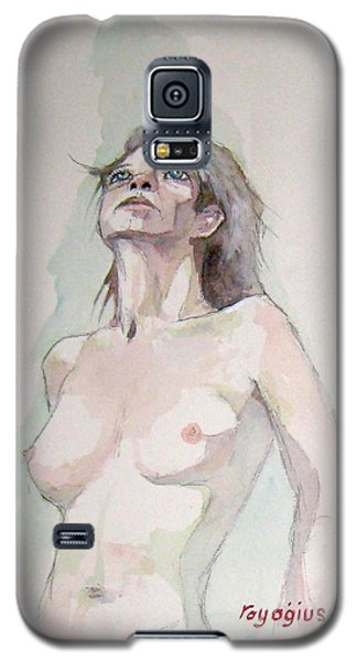 Galaxy S5 Case featuring the painting Sketch For Megan Iv by Ray Agius