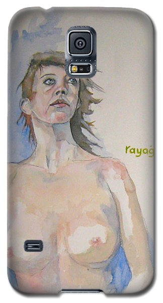 Galaxy S5 Case featuring the painting Sketch For Megan V by Ray Agius
