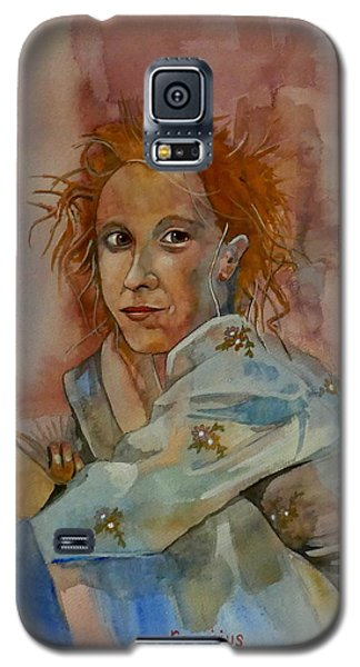 Galaxy S5 Case featuring the painting Sketch For Sarah by Ray Agius