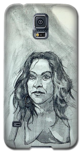 Galaxy S5 Case featuring the painting Sketch For Sera.10.01 by Ray Agius