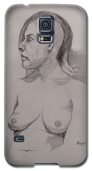 Galaxy S5 Case featuring the drawing Sketch For Sitting Cassie by Ray Agius