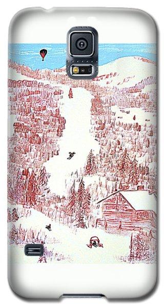Skiing Deer Valley Utah Galaxy S5 Case