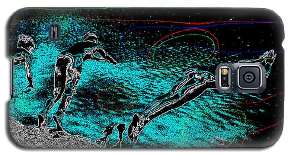 Galaxy S5 Case featuring the mixed media Skinning Dipping by Charles Shoup