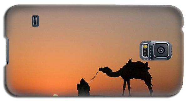 Skn 0870 Silhouette At Sunrise Galaxy S5 Case