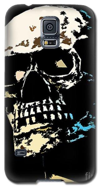 Skull Against A Dark Background Galaxy S5 Case