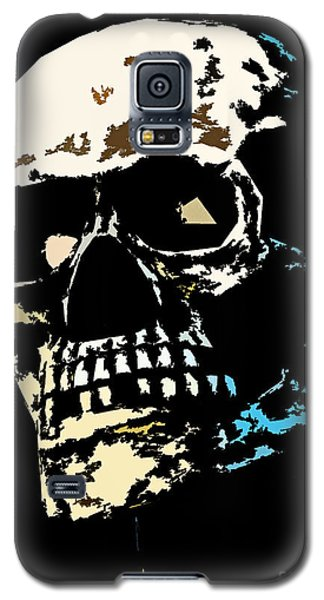 Skull Against A Dark Background Galaxy S5 Case
