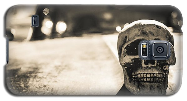 Galaxy S5 Case featuring the photograph Skull Car by Lora Lee Chapman