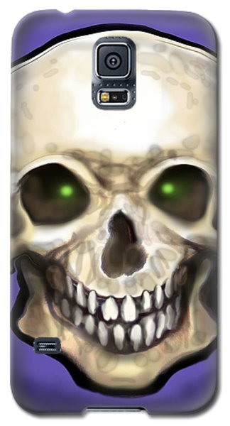 Galaxy S5 Case featuring the painting Skull by Kevin Middleton