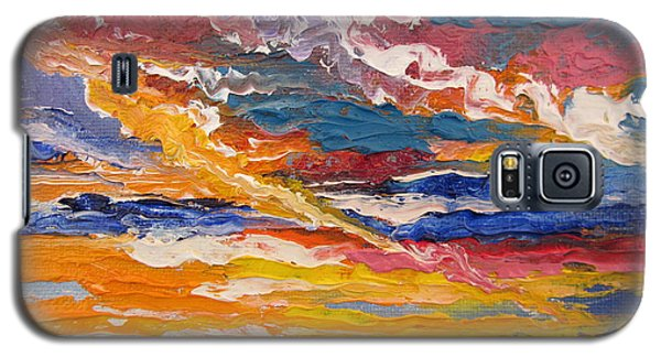 Galaxy S5 Case featuring the painting Sky In The Morning by Sigrid Tune