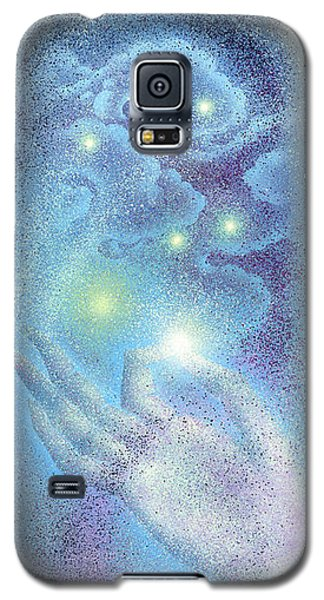 Galaxy S5 Case featuring the painting Sky Mudra by Ragen Mendenhall