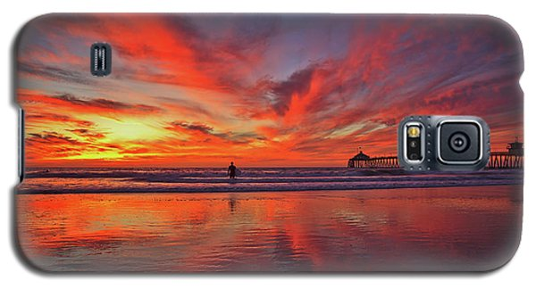 Sky On Fire At The Imperial Beach Pier Galaxy S5 Case