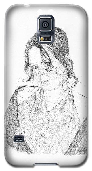 Galaxy S5 Case featuring the drawing Skye by Mayhem Mediums
