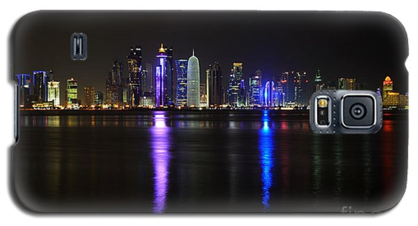 Skyline Of Doha, Qatar At Night Galaxy S5 Case