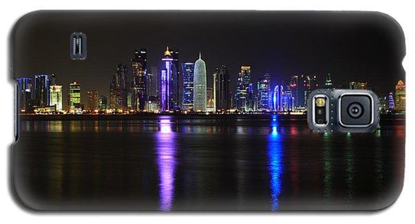 Skyline Of Doha, Qatar At Night Galaxy S5 Case