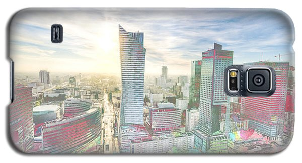 Skyline Of Warsaw Poland Galaxy S5 Case