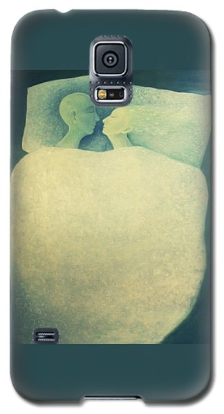 Galaxy S5 Case featuring the painting Sleep - In Love by Tone Aanderaa