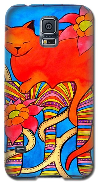 Galaxy S5 Case featuring the painting Sleeping Beauty By Dora Hathazi Mendes by Dora Hathazi Mendes