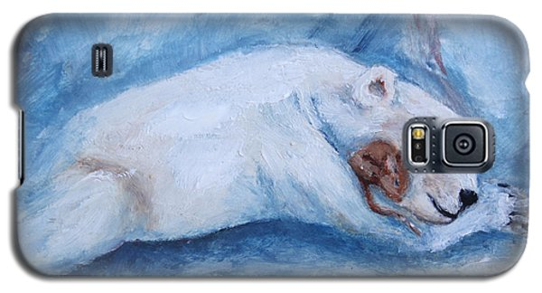Sleeping Buddies Aceo Baby Polar Bear And Mouse Galaxy S5 Case