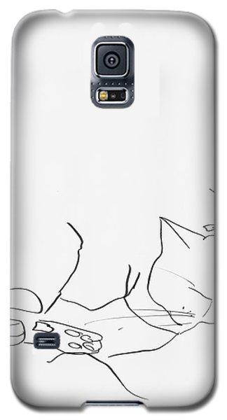 Sleeping Cat II Galaxy S5 Case by Leela Payne
