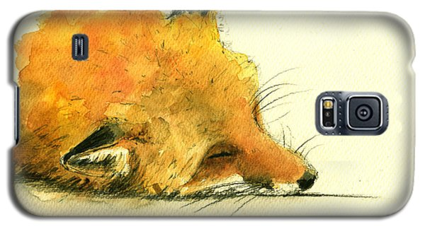 Sleeping Fox Galaxy S5 Case by Juan  Bosco