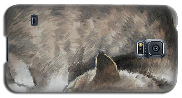 Galaxy S5 Case featuring the painting Sleeping Kitty by Jindra Noewi