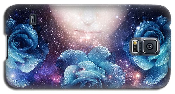 Galaxy S5 Case featuring the digital art Sleeping Rose by Mo T