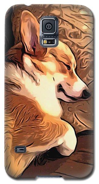 Banjo The Sleeping Welsh Corgi Galaxy S5 Case