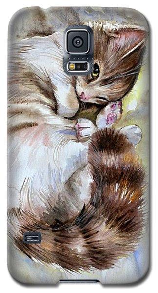 Sleepy Cat 2 Galaxy S5 Case