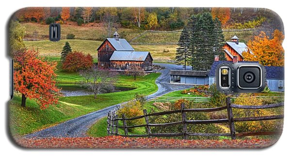 Sleepy Hollows Farm Woodstock Vermont Vt Autumn Bright Colors Galaxy S5 Case
