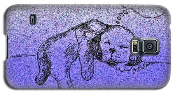 Sleepy Puppy Dreams Galaxy S5 Case