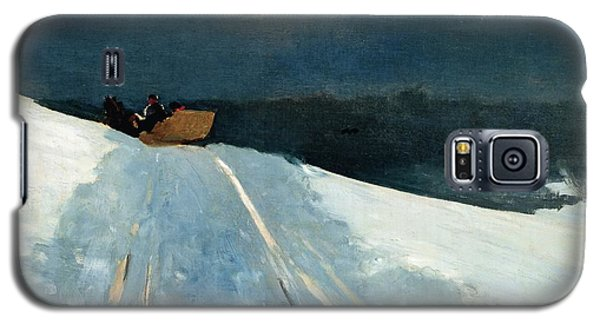 White Horse Galaxy S5 Case - Sleigh Ride by Winslow Homer