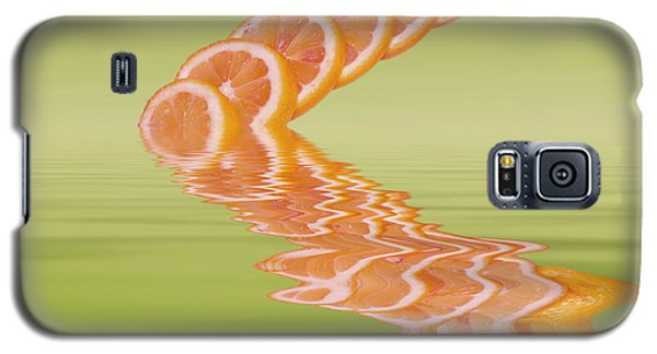 Galaxy S5 Case featuring the photograph Slices Pink Grapefruit Citrus Fruit by David French