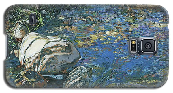 Galaxy S5 Case featuring the painting Slicky Pool by Nadi Spencer