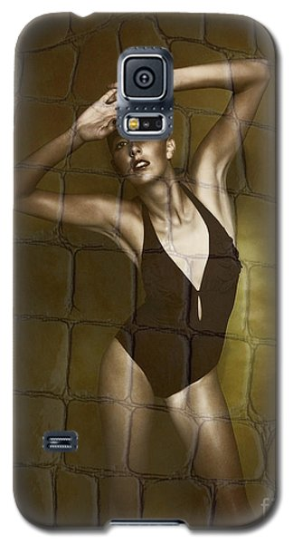 Galaxy S5 Case featuring the photograph Slim Girl In Bathing Suit by Michael Edwards