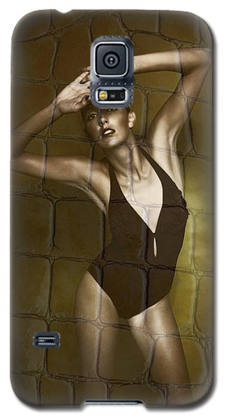 Slim Girl In Bathing Suit Galaxy S5 Case by Michael Edwards