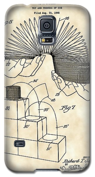 Slinky Patent 1946 - Vintage Galaxy S5 Case by Stephen Younts