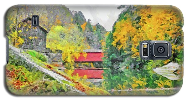 Galaxy S5 Case featuring the digital art Slippery Rock Creek At Mcconnells Mill by Digital Photographic Arts