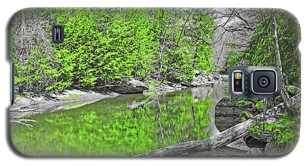 Galaxy S5 Case featuring the photograph Slippery Rock Creek In Spring by Digital Photographic Arts