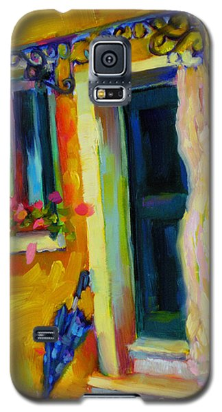 Galaxy S5 Case featuring the painting Sliver Of Sunshine by Chris Brandley