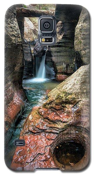 Slot Canyon Waterfall At Zion National Park Galaxy S5 Case